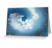 The Whole World In His Hands Greeting Card