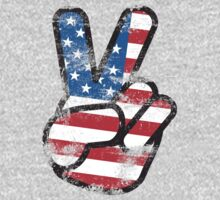 Retro American Peace Shirt by 785Tees