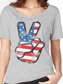 Retro American Peace Shirt Women's Relaxed Fit T-Shirt