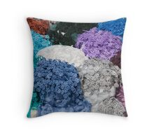 colorful scarves Throw Pillow