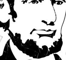 Retro Abraham Lincoln Shirt Sticker