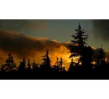Sunset At Timberline Photographic Print
