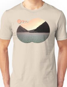 Danube river ship at evening | waterscape photography Unisex T-Shirt