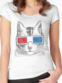 Cat Geek Shirt Women's Fitted Scoop T-Shirt