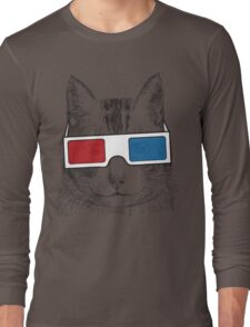Cat Geek Shirt Long Sleeve T-Shirt