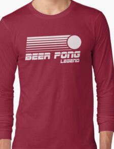 Beer Pong Legend Vintage Shirt Long Sleeve T-Shirt