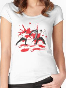 Sword Fight Graphic Shirt Women's Fitted Scoop T-Shirt