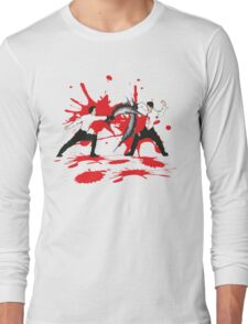 Sword Fight Graphic Shirt Long Sleeve T-Shirt