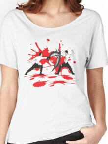 Sword Fight Graphic Shirt Women's Relaxed Fit T-Shirt