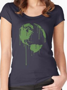 One Earth Graphic Shirt Women's Fitted Scoop T-Shirt