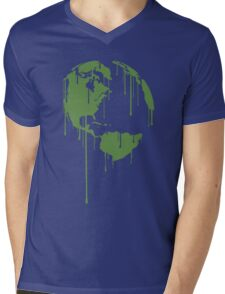 One Earth Graphic Shirt Mens V-Neck T-Shirt