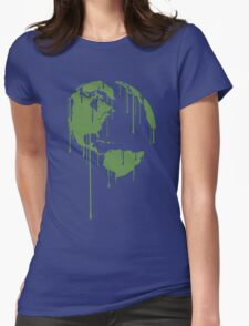 One Earth Graphic Shirt Womens Fitted T-Shirt