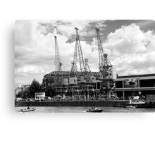 Dock Cranes Canvas Print