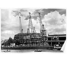 Dock Cranes Poster