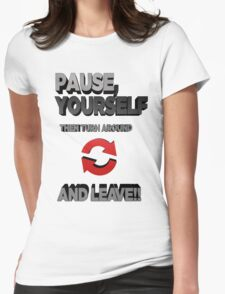 A STRONG MESSAGE Womens Fitted T-Shirt