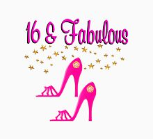 SWEET 16TH BIRTHDAY PINK HIGH HEELED DESIGN Women's Fitted Scoop T-Shirt