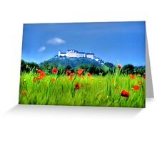 Salzburg Poppies Greeting Card