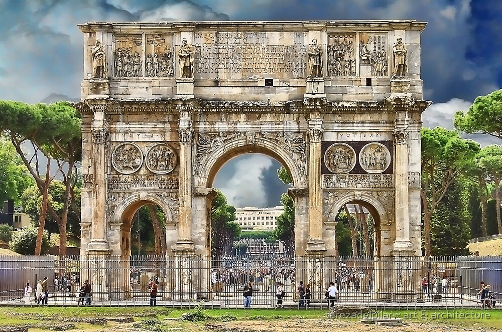 Arch of Constantine. Rome by terezadelpilar~ art & architecture
