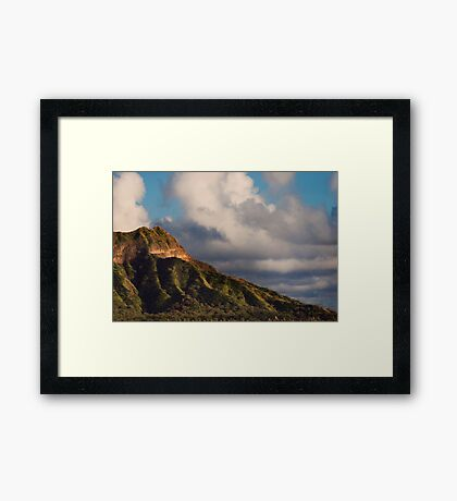 Diamond Head At Sunset Framed Print