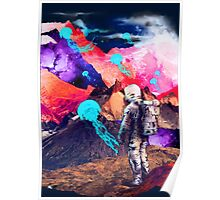 SPACE MOUNTAIN JELLY FISH ASTRONAUT  Poster
