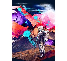 SPACE MOUNTAIN JELLY FISH ASTRONAUT  Photographic Print