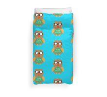Nerdy owl  Duvet Cover