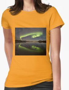 Spooky Face Womens Fitted T-Shirt