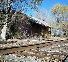 Abandoned Railroad Station by James Brotherton