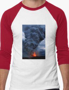 Kilauea Volcano at Kalapana 3b Men's Baseball ¾ T-Shirt