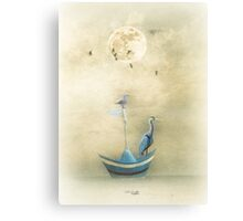 Sailing by the Moon Canvas Print