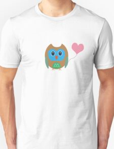 Cute owl with heartballoon Unisex T-Shirt