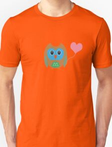 Cute owl with heartballoon Unisex T-Shirt