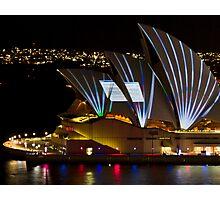 Error Msg Sails - Sydney Vivid Festival - Sydney Opera House Photographic Print