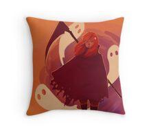 Reaper Girl in the Desert Throw Pillow