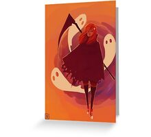 Reaper Girl Greeting Card