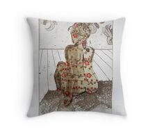Sitting nude # 2 Throw Pillow