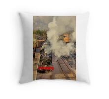 Journey by Rail Throw Pillow