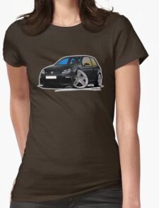 VW Golf R Black Womens Fitted T-Shirt