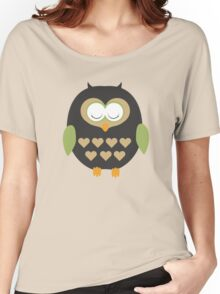 Sleeping owl  Women's Relaxed Fit T-Shirt