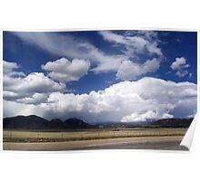Storm clouds moving toward Eleven Mile Reservoir Poster