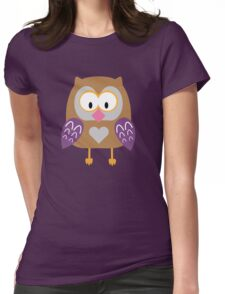 Ugly owl  Womens Fitted T-Shirt