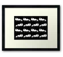 Cute Black and White Ant Pattern Framed Print