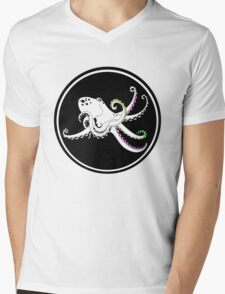 Octopus with colorful tentacles Mens V-Neck T-Shirt