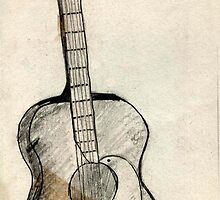09 - SPANISH GUITAR - DAVE EDWARDS - PENCIL - 1966 by BLYTHART