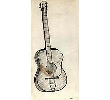 09 - SPANISH GUITAR - DAVE EDWARDS - PENCIL - 1966 Photographic Print