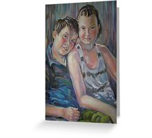 Best Friends- Portrait of brother and sister Greeting Card