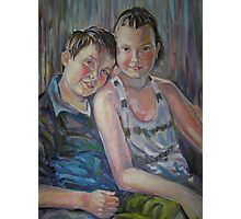 Best Friends- Portrait of brother and sister Photographic Print