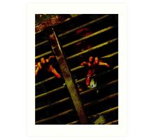 Caged Zombie Art Print