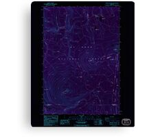 USGS Topo Map Oregon Pinhead Buttes 281101 1986 24000 Inverted Canvas Print