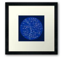 Superheroes Constellations Framed Print